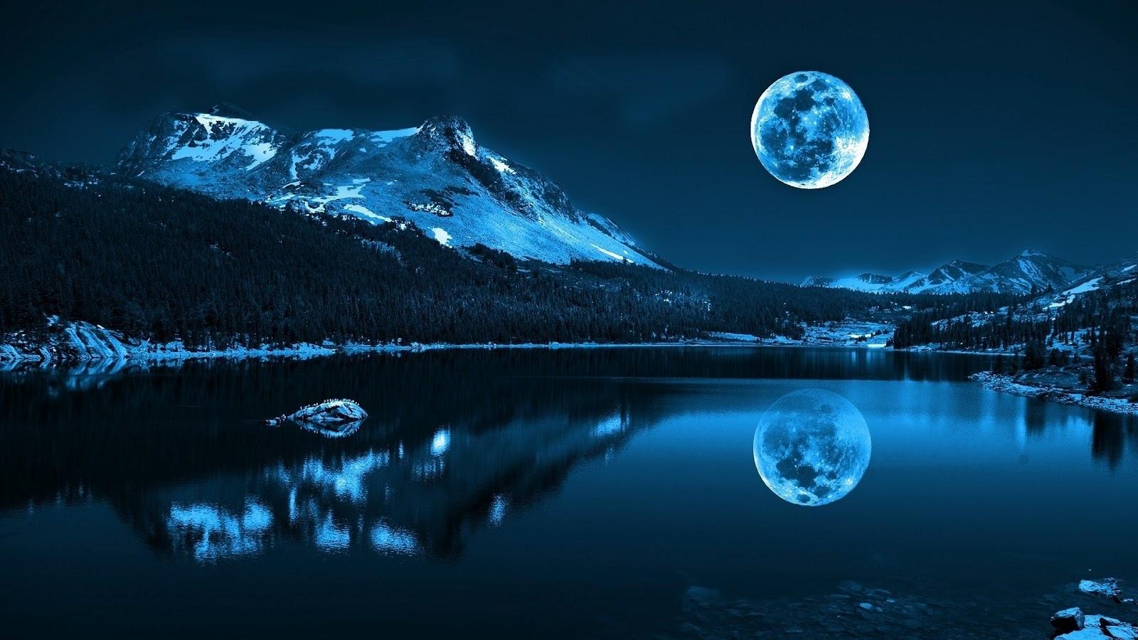 full moon night principe nel ghiaccio background