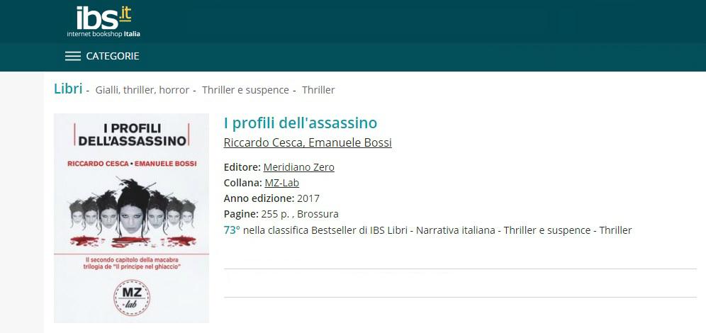 Immagine IBS I Profili dell'Assassino - The Profiles of the Assassin